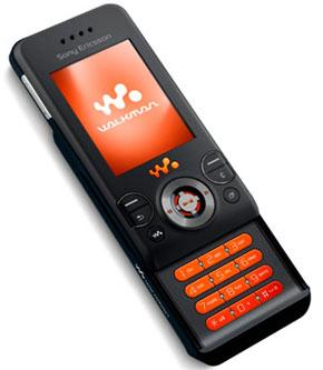 Черный Sony Ericsson W580 выходит на рынок