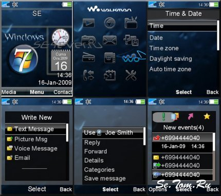 Windows 7 - Flash Theme 2.0 For SE [240x320]