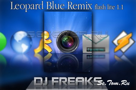 Leopard Blue Remix - Theme and Flash Menu For Sony Ericsson 240x320