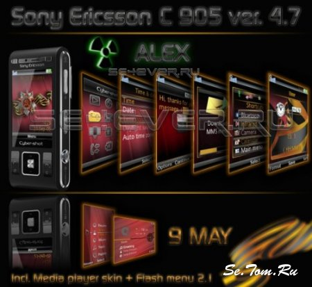 9 may - Theme + Flash Menu 2.1 for Sony Ericsson