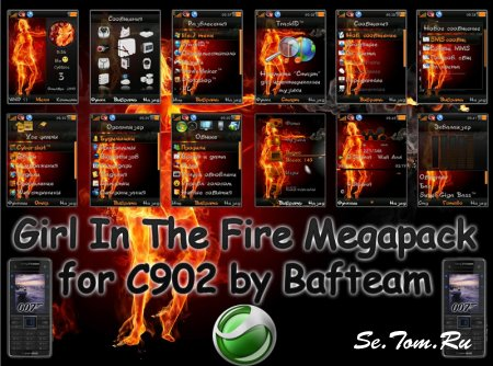 Girl In The Fire Megapack by Bafteam For C902